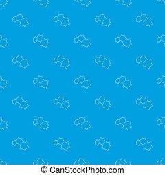 Molecules pattern seamless blue