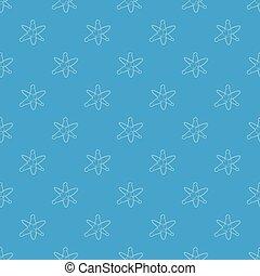 Molecules pattern vector seamless blue