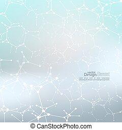 molekül, abstrakt, dns, struktur, hintergrund