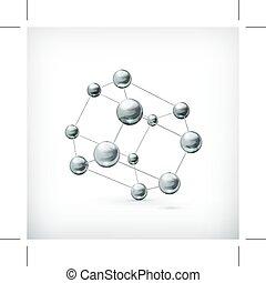 molekül, metall, ikone