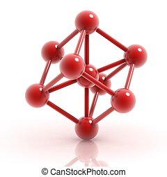 molekuła, 3d, ikona