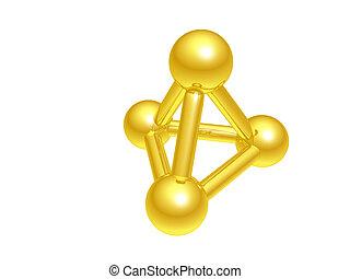 molekuła, atom
