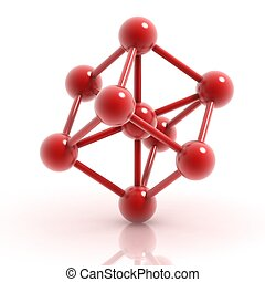 molekuła, ikona, 3d