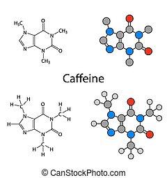 molekula, koffein