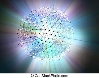 molekular, wissenschaft, technologie, begriff