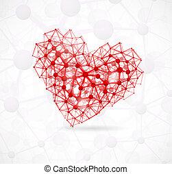 molekularny, serce