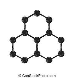 molekyl, isolerat, struktur, ikon