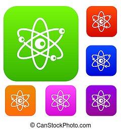 molekylen, atom, kollektion, sätta