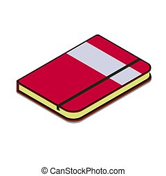 moleskine organizer, Diary Simple vector icon. Illustration notebook symbol design template for web mobile UI element. Perfect color isometric pictogram copybook for you business project