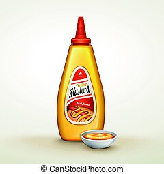 molho, mostarda, anúncio