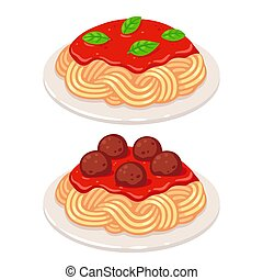 molho tomate, espaguete