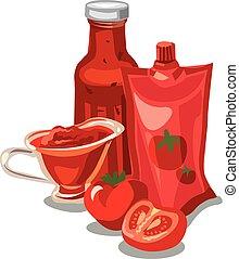 molho tomate, ketchup