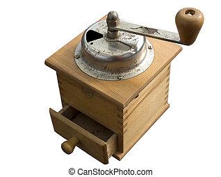 molinillo, antiguo, de, café