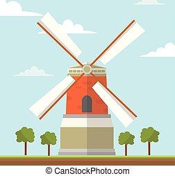 molino de viento, países bajos