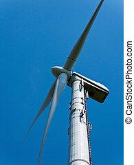molino de viento, potencia, energía, por, alternativa, viento
