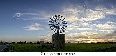 molino de viento tradicional, en, mallorca, islas balearas