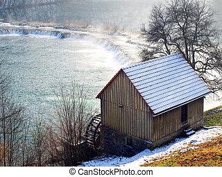 molino, y, río