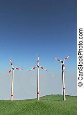 molinos de viento, colina
