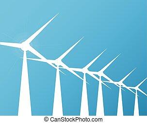 molinos de viento, plano de fondo