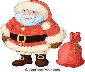 mollig, goed, kerstman