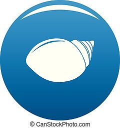 Mollusks Shell icon vector blue