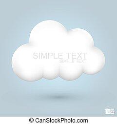 moln, glatt, ikon