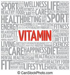 moln, ord, vitamin, bakgrund