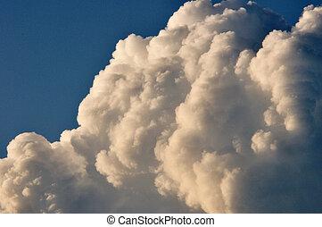 moln, oväder, formande