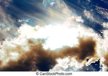 moln, sky