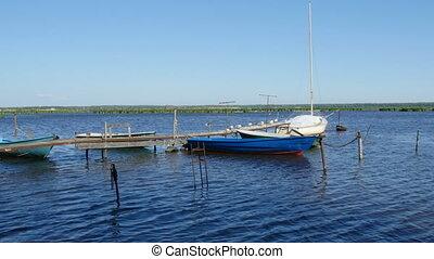 molo, łódki, wędkarski