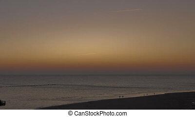 molo, wschód słońca, sellin