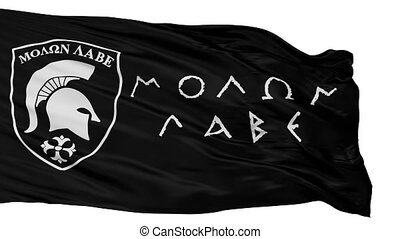 Molon Labe Flag, Isolated On White Seamless Loop