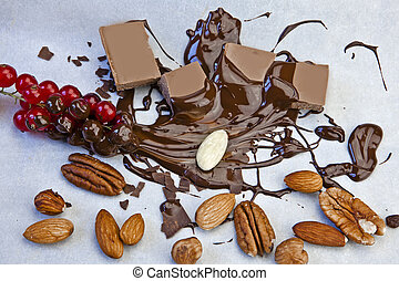 molten chocolate - smooth chocolate pieces with chocolate...