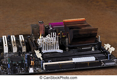 molten cooling element on computer main board