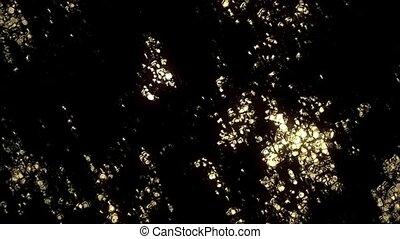Molten Gold - A bright light sweeps across a molten gold...