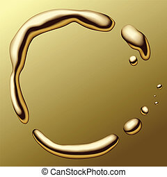 Molten gold frame - vector image of a molten gold frame on...