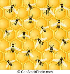 molti, api, favo