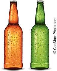 molti, birra, sidro, bottiglia acqua, gocce
