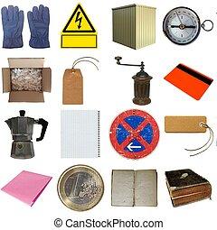 molti, oggetti, isolato