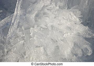 molto, cristalli, poco profondo, closeup, ghiaccio