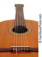 molto, dettaglio, chitarra, musica, fondo, bello