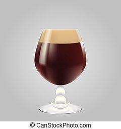 molto, scuro, birra