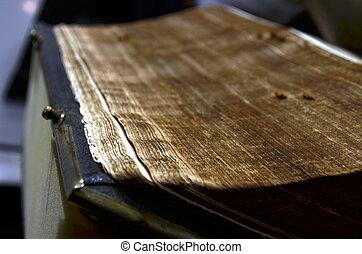 molto, spesso, libro, vecchio, pagine
