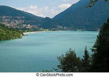 Molveno Lake, in Trentino