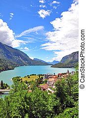 Molveno lake, Italy