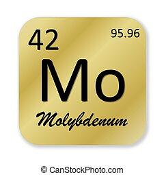 Molybdenum element - Black molybdenum element into golden...