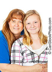 Mom and Daughter Portrait