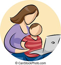 Mom Child Laptop