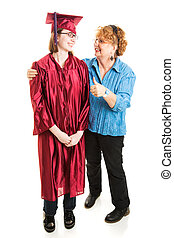 Mom Congratulates Daughter on Graduation