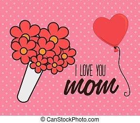Mom design, vector illustration.